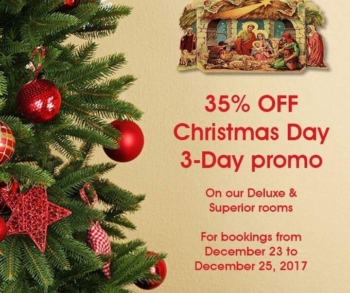 Heroes Hotel Christmas Day Promo