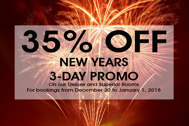 New Years 3 Day Promo